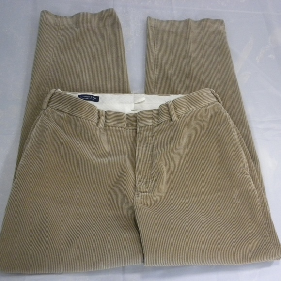 f1ebabdfb Lands' End Pants | Lands End Mens Size 33 Tan Corduroy | Poshmark